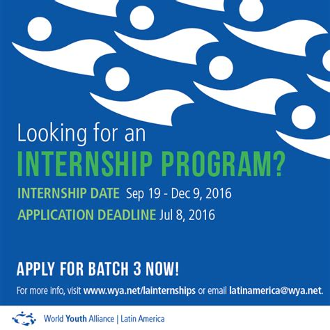 Apply Mba America Internship by World Youth Alliance Wya America Internship