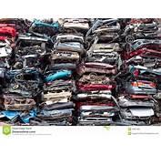 Car Piles Crushed Stock Image Of Metal Plant