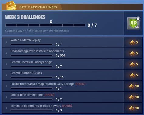 fortnite week 3 challenges fortnite season 4 week 3 challenges fortnite insider