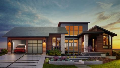 solar house why tesla s new solar roof tiles and home battery are such