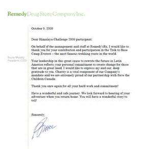 thank you letter from bruce moody president ceo of
