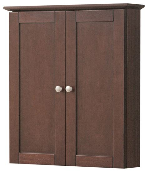 Cherry Bathroom Storage Cabinet Columbia 21 Quot Cherry Wall Cabinet Transitional Bathroom Cabinets And Shelves By Foremost