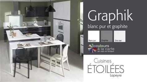 cuisine lapere les meubles de cuisine graphik blanc pur et graphite