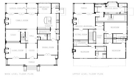 four square house plans american foursquare house floor plans american colonial