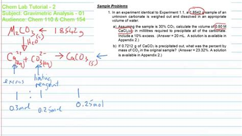 gravimetric analysis lab report sle gravimetric analysis 02 study guide problem solving
