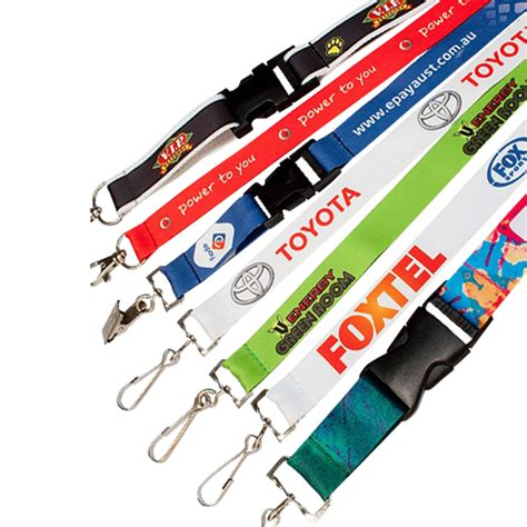 id card rope design dye sublimated lanyards golden lamtouch