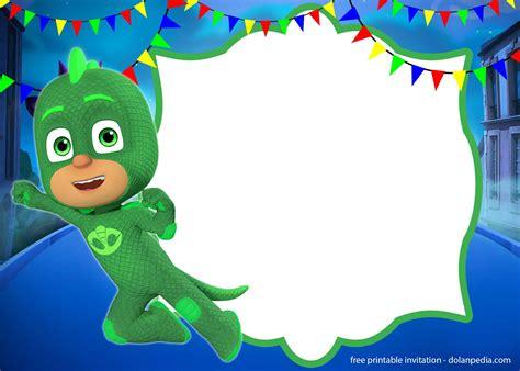 pj masks invitation templates editable