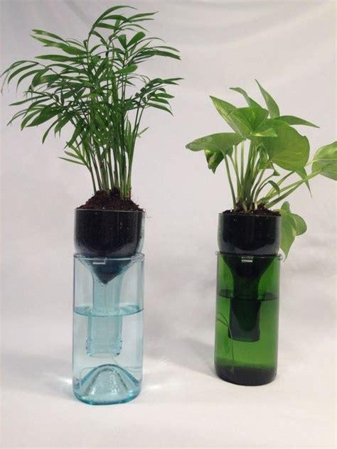 Wine Bottle Planter Self Watering by Self Watering Wine Bottle Planter Hipcycle Grow