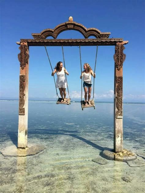 swing sites this is on gili trawangan bali tour pinterest bali