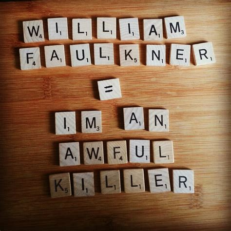 anagram maker scrabble book sword william faulkner ezra pound and roberto