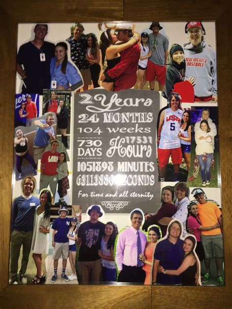 Wedding Anniversary Collage Ideas by 2 Year Anniversary Collage And Anniversaries On