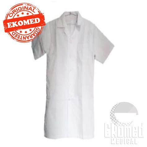 Diskon Jas Lab Jas Laboratorium Lengan Pendek lab jas lengan pendek white ekomed