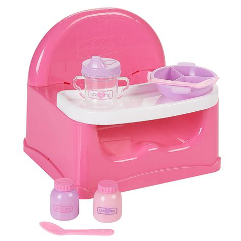 you me 12 14 inch doll booster seat and meal set pink