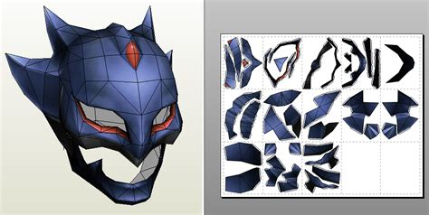 Papercraft Batman Mask - dissidia 012 of the moon helmet papercraft