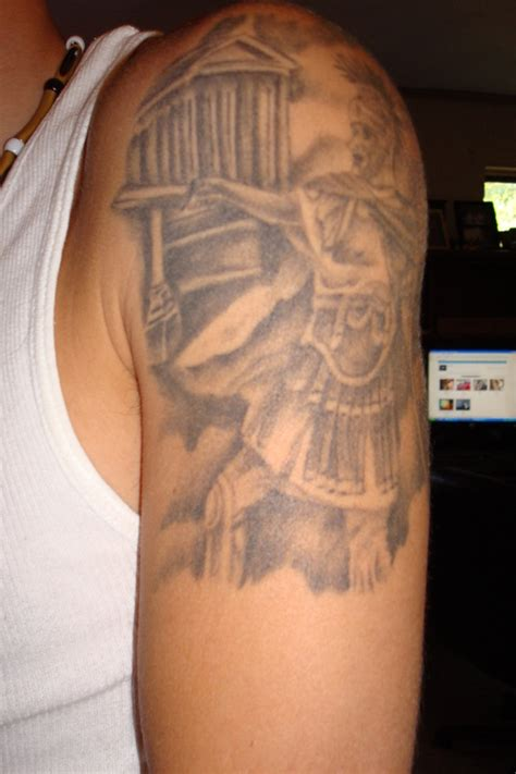 greek warrior tattoo 22 inspirational images pictures and ideas