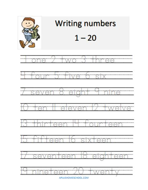 printable worksheets for numbers 1 20 aplus homeschool resource blog free lesson plan math