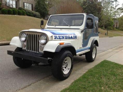 1981 jeep renegade sell used 1981 jeep cj 5 renegade unrestored original