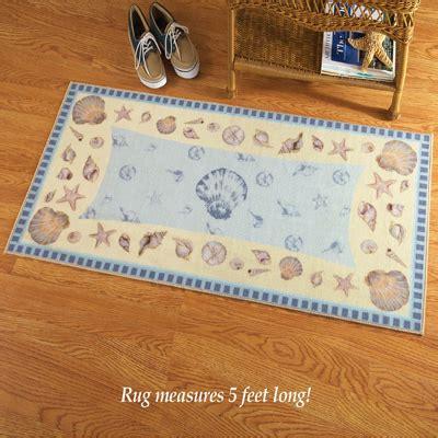 seashell area rugs coastal seashell area rug from collections etc