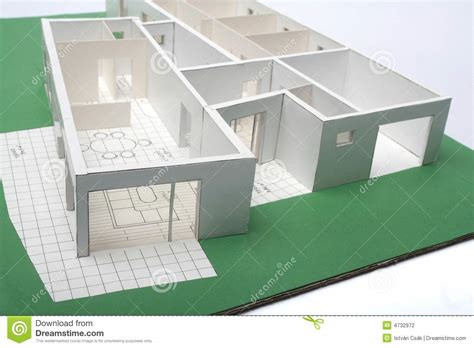 Cape House Plans house scale model stock photography image 4732972