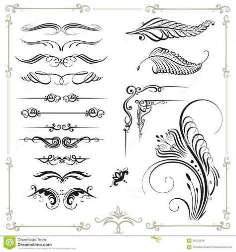 borders design elements vector related keywords suggestions for calligraphic border