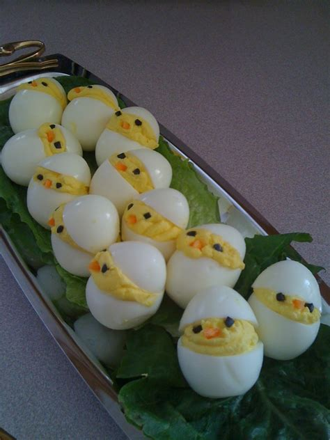 Decorated Deviled Eggs For Easter by Chickadee Deviled Eggs Foxy And Fabulous