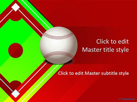 Free Baseball Field Ppt Template Baseball Powerpoint Template Free