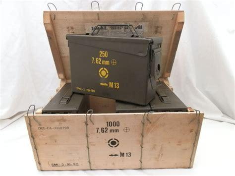 cassette militari kit di 4 cassette militari portamunizioni con scatola in