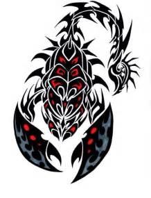 图腾蝎子纹身手稿内容图片分享