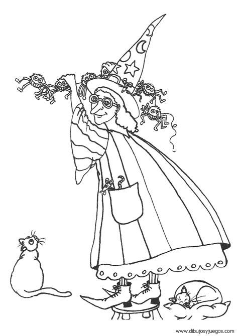 imagenes para pintar la cara de bruja dibujo de bruja 124 dibujos y juegos para pintar y colorear