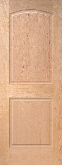 Maple Arch 2 Panel Wood Interior Door Homestead Doors 2 Panel Interior Wood Doors