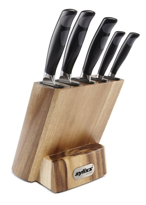 kitchen knives block set review zyliss control kitchen knife set with block