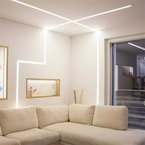 illuminazione soggiorno led barra led per soggiorno completa di profilo led e