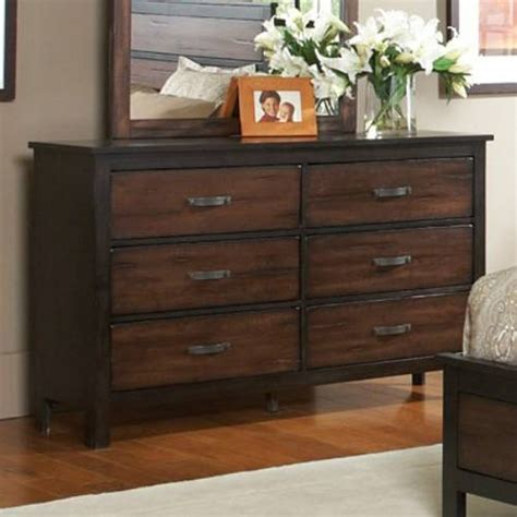 wood bedroom dresser dark wood dresser makes industrial atmosphere around the