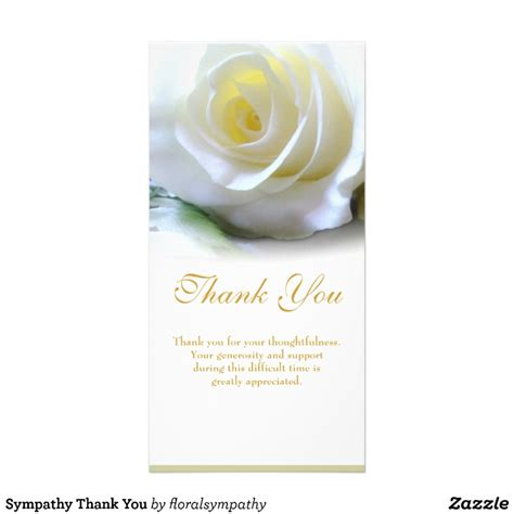 sympathy thank you card zazzle