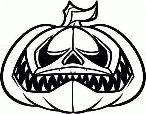 imagenes de halloween para dibujar faciles how to draw a halloween pumpkin step by step halloween