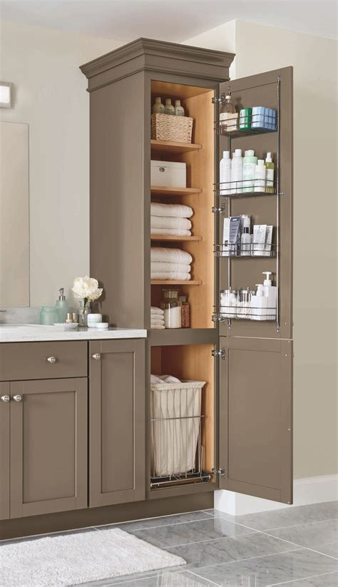 pull out linen cabinet a linen closet with four adjustable shelves a chrome door