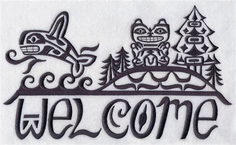 pacific northwest design machine embroidery designs at embroidery library