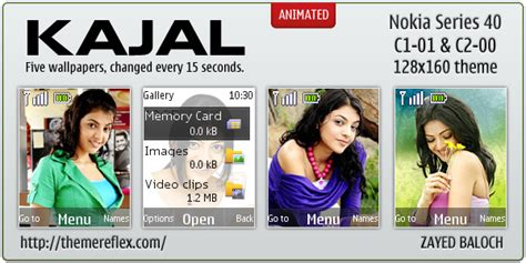 kajal themes for nokia 2690 kajal agarwal theme for nokia c1 01 c2 00 themereflex