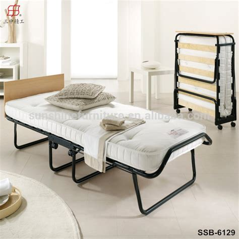 single folding bed guest bed for hostel with mattress and