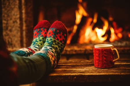 sock fireplace greetings and a few announcements