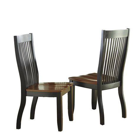 Strong Dining Room Chairs Set Of 2 Lawton Modern Solid Wood Mision Style Slat Back Dining Chairs