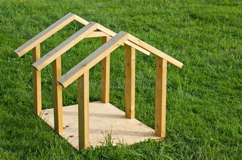 smalldog with wooden dog s house stock image image 30902231 dog house wood frame stock image image of clean