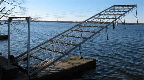 boat dock pulley system dock builder ritley marine systems ritley marine systems