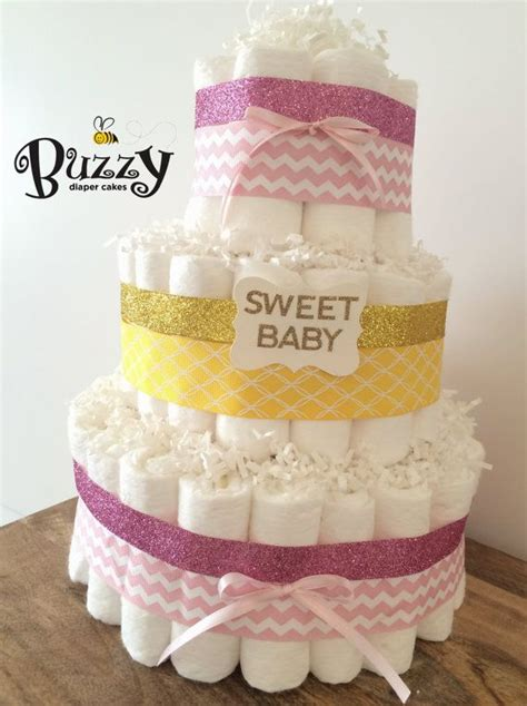 Pink And Yellow Baby Shower Cake by Yellow And Pink Cake For Baby Shower Decor