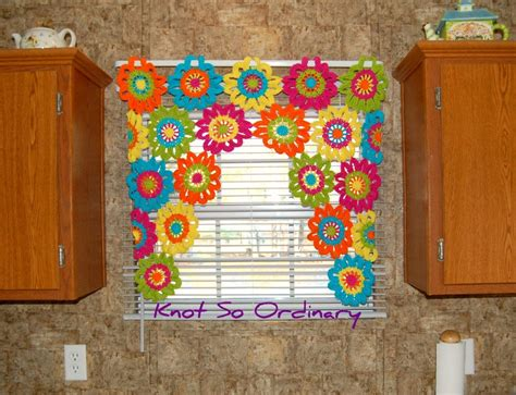 window valance flower valance kitchen curtain crochet