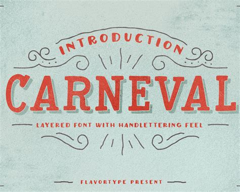 Handcrafted Font - carneval handcrafted font visual hierarchy