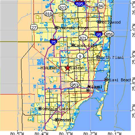 map hialeah florida hialeah fl