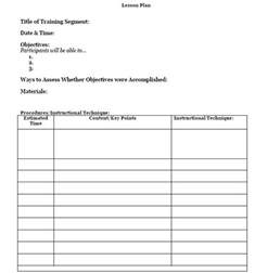 army lesson plan template template like a chion