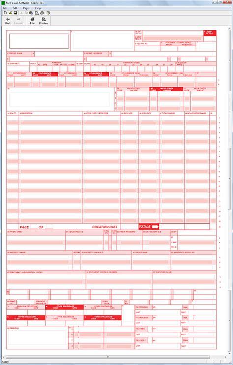 ub 04 form template ub 04 claim form software 79 95