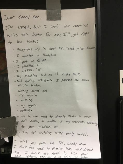 Sle Letter Vending Machine Hilarious Letter Stuck To Vending Machine Goes Viral Everyone Understands Why Viral Thread